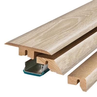 Graceland Oak/Sand Dune Oak 3/4 in. Thick x 2-1/8 in. Wide x 78-3/4 in. Length Laminate 4-in-1 Molding
