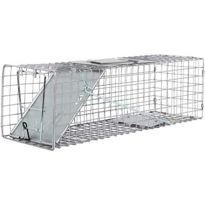Medium One Door Catch Release Heavy-Duty Humane Cage Live Animal Trap for Rats, Raccons, and Other Same Sized Animals