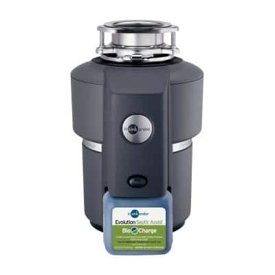 Evolution Septic Assist Quiet Series 3/4 HP Continuous Feed Garbage Disposal with 1-Pack Bio-Charge Cartridge