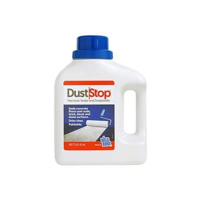 1.5 Qt. Dust Stop Non-toxic Topical Floor and Walls Sealer for Concrete, Brick, Block and More