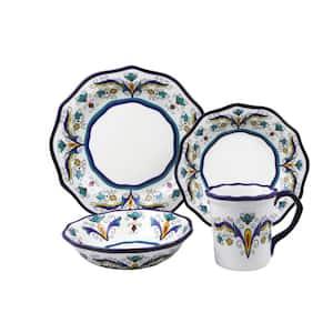Samana 16-Piece Casual Shiny Finish Stoneware Dinnerware Set (Service for 4)