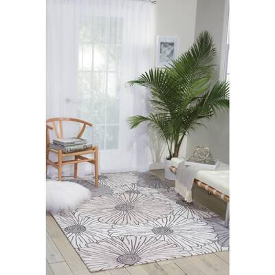 Fantasy Ivory/Multicolor 2 ft. x 8 ft. Floral Farmhouse Runner Rug