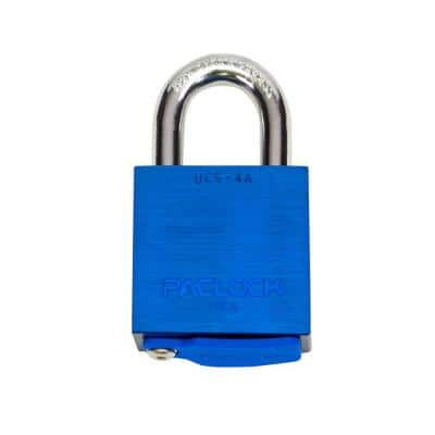 High Security Padlock, Keyed Different, 7/16 in. Dia. Shackle, UCS Every-Lock-One-Key, Buy American Act Compliant