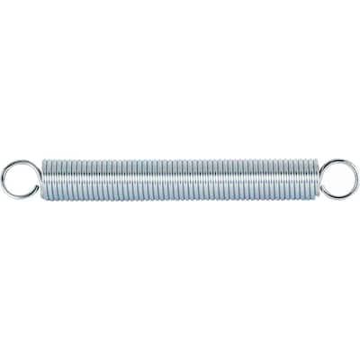 Extension Spring, 1 in. x 8-1/2 in. x 0.120 in., Wire Diameter, Spring Steel, Single Loop, Closed