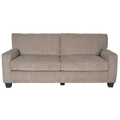 RTA Santa Cruz 78 in. Espresso/Platinum Polyester 2-Seater Sofa with Removable Cushions