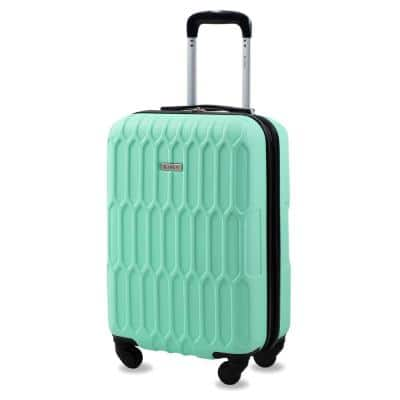 Honeycomb 20 in. Mint Carry-On Expandable Spinner Suitcase
