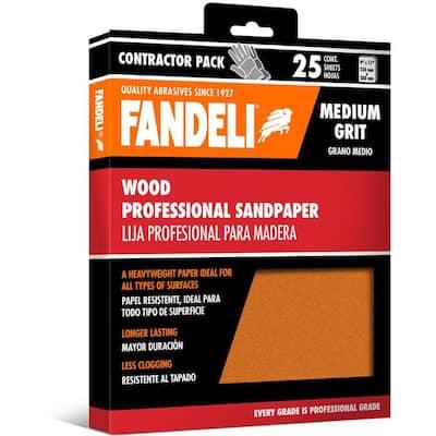 9 in. x 11 in. Medium Aluminum Oxide Sandpaper (25-Pack)