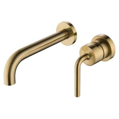 Single-Handle Wall Mounted Faucet in Brushed Golden