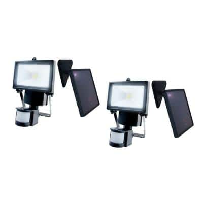 Solar Powered Motion Sensing Outdoor 120 Degree Security Light with Advance LED Technology (2 Pack)