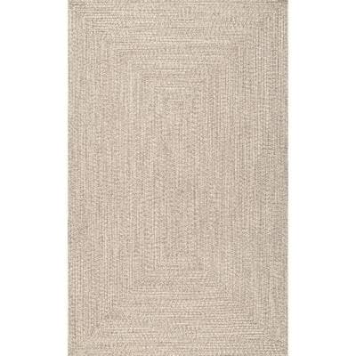 Lefebvre Casual Braided Tan 5 ft. x 8 ft. Indoor/Outdoor Area Rug