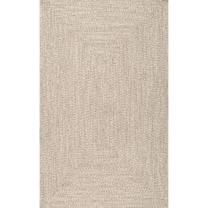 Lefebvre Casual Braided Tan 6 ft. x 9 ft. Indoor/Outdoor Area Rug