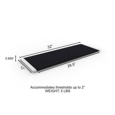 TRANSITIONS Threshold Plate with Applied Surface 12 in. L x 32 in. W