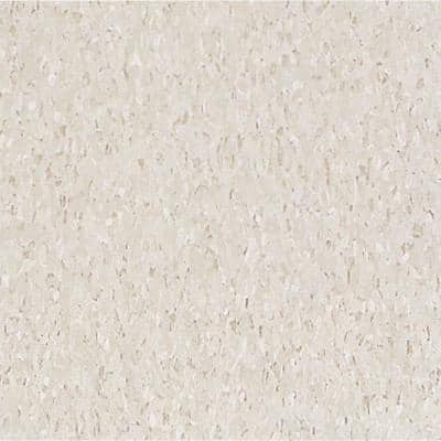 Imperial Texture VCT 12 in. x 12 in. Pearl White Standard Excelon Vinyl Tile (45 sq. ft. / case)
