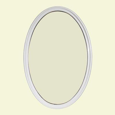 24 in. x 36 in. Oval White 4-9/16 in. Jamb 2-1/4 in. Interior Trim Geometric Aluminum Clad Wood Window