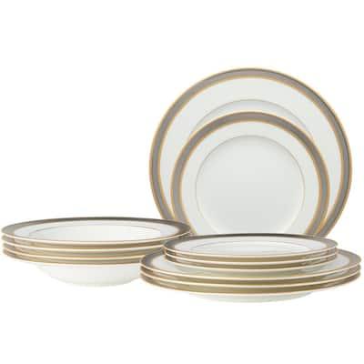Brilliance White Bone China 12-Piece Set (Service for 4)