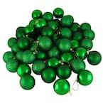 Xmas Green Shatterproof 4-Finish Christmas Ball Ornaments (24-Count)