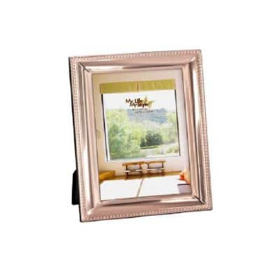 5 in. x 7 in. Copper Alum Picture Frame Beveled with Beaded Border
