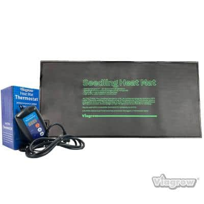 20.5 in. x 8.5 in. Single Tray Heat Mat with Thermostat