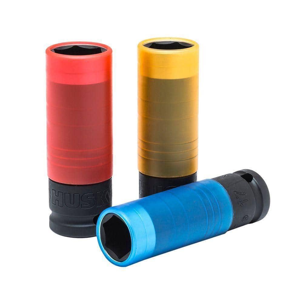 """Wera 004592 Lug Nut 1//2/"""" Impact Socket with Plastic Sleeve 21mm"""