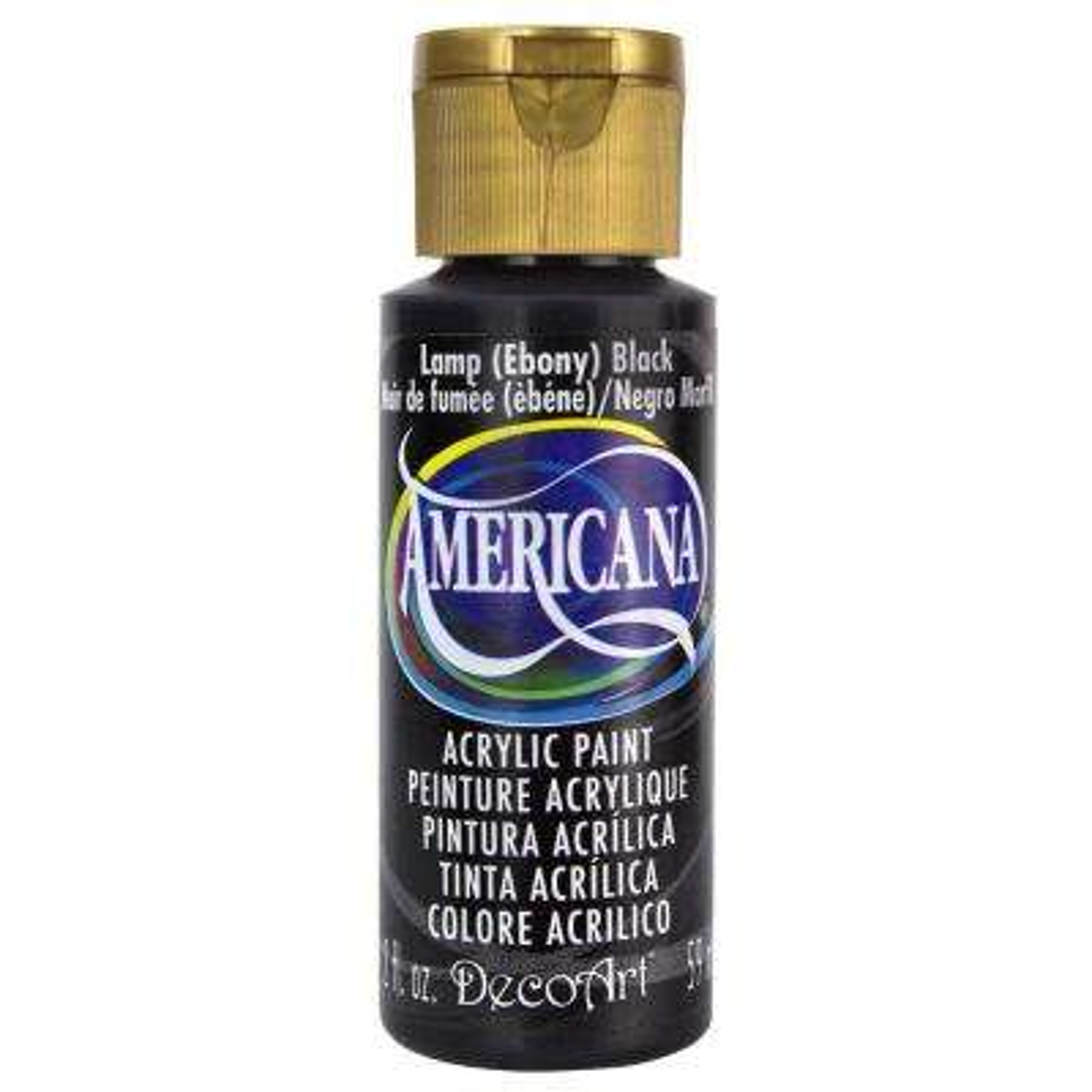 Americana 2 oz. Lamp (Ebony) Black Acrylic Paint