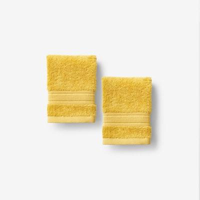Company Cotton Deep Yellow Solid Turkish Cotton Wash Cloth (Set of 2)