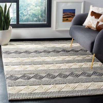 Natura Gray/Ivory 5 ft. x 8 ft. Abstract Area Rug