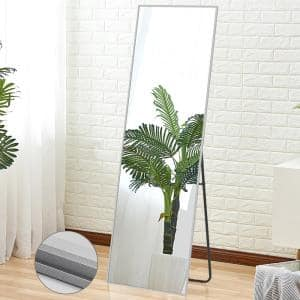 64.17 in.  X 21.26 in.Oversized Modern Metal Framed Beveled Glass Full Length Standing Mirror
