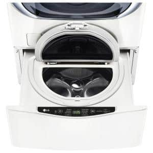 27 in. 1.0 cu. ft. SideKick Pedestal Washer with TWINWash System Compatibility and NeveRust Drum in White