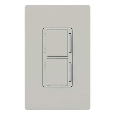 Maestro 300-Watt Single-Pole Dual Dimmer - Palladium