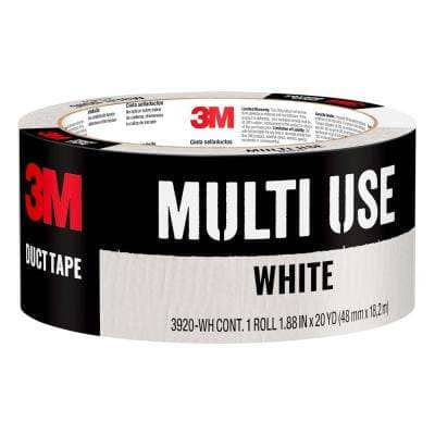 1.88 in. x 20 yds. White Duct Tape (Case of 12)