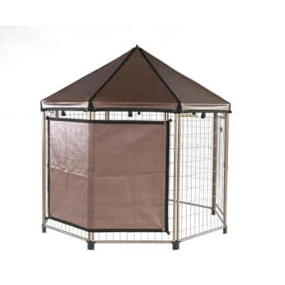 58 in. x 65 in. Sun Shade with Four 4 in. Ball Ties for 8 ft. Pet Gazebo