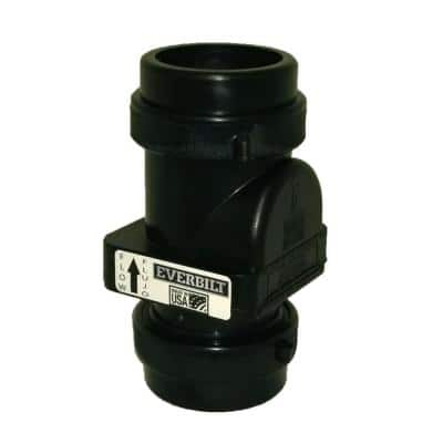 2 in. Sewage Check Valve with Compression Fittings