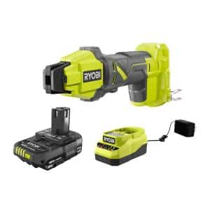 ONE+ 18V Cordless PEX Tubing Clamp Tool and 2.0 Ah Compact Battery and Charger Starter Kit