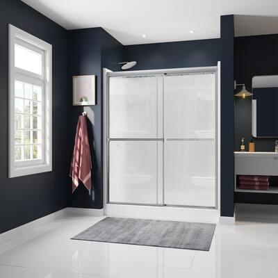 Atwater 54 in. - 59.5 in. x 68 in. Framed Sliding Shower Door in Chrome