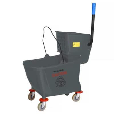 36 Qt. Mop Bucket with Side Press Wringer in Gray