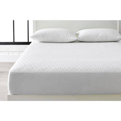 Microban Anti-Microbial White Full Mattress Protector + Jumbo Pillow Protector (Set of 2)