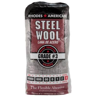 Coarse Grit #3 Steel Wool (12-Pad)