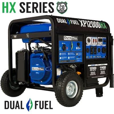 12000/9500-Watt Dual Fuel Electric Push Start Gasoline/Propane Portable Generator with CO Alert Shutdown Sensor