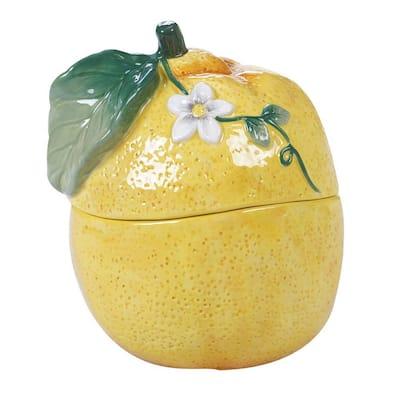Multi-Colored 18 oz. Citron 3-D Lemon Covered Bowl