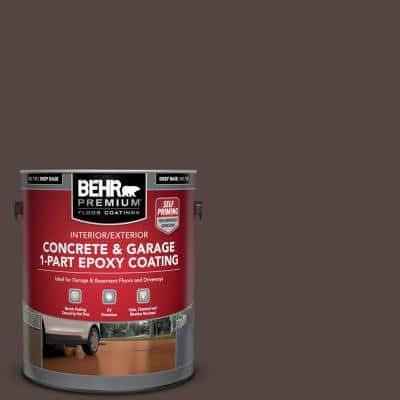 1 Gal. #PFC-25 Dark Walnut Self-Priming 1-Part Epoxy Satin Interior/Exterior Concrete and Garage Floor Paint