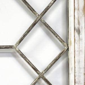 Victoria Distressed White Metal & Wood Framed Wall Art