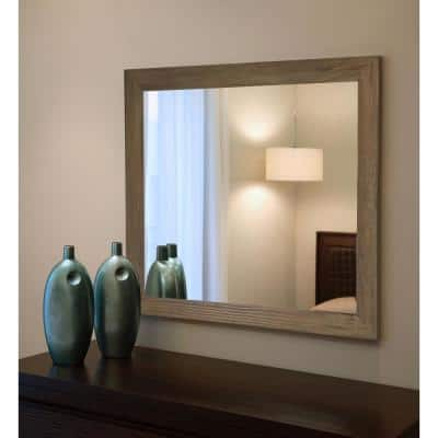Large Rectangle Brown American Colonial Mirror (60 in. H x 40 in. W)