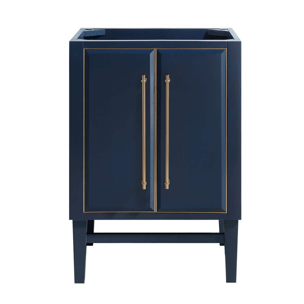 Avanity Mason 24 In Bath Vanity Cabinet Only In Navy Blue With Gold Trim Mason V24 Nbg The Home Depot