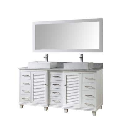 Direct Vanity Sink Mission Turnleg Spa 32 In Vanity In White With Marble Vanity Top In Carrara White With White Basin 32s10 Wwc The Home Depot