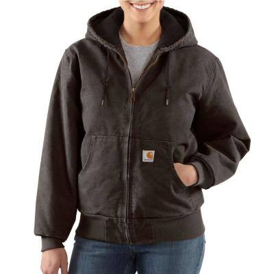 Women's Large Dark Brown Cotton Active Jacket