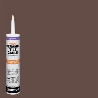 Polyblend #95 Sable Brown 10.5 oz. Sanded Ceramic Tile Caulk