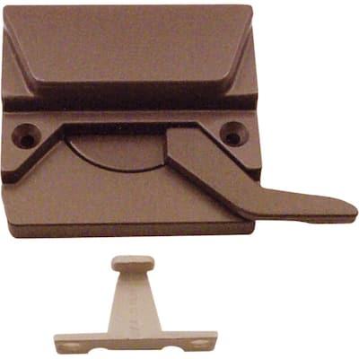 Bronze Left-Hand Casement Window Low-Profile Sash Lock