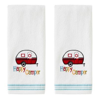 Retro Camper Hand Towel (2Pack),White