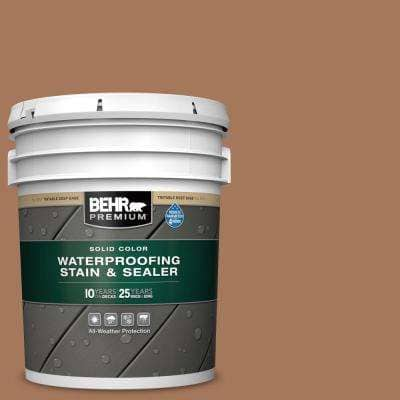 5 gal. #SC-146 Cedar Solid Color Waterproofing Exterior Wood Stain and Sealer