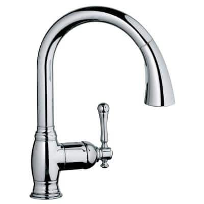 Bridgeford Single-Handle Pull-Down Sprayer Kitchen Faucet with Dual Spray in StarLight Chrome